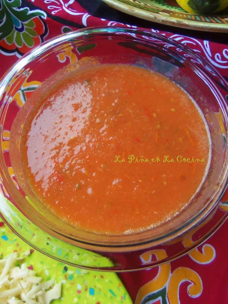 Salsa de Mesa-Pastel Azteca