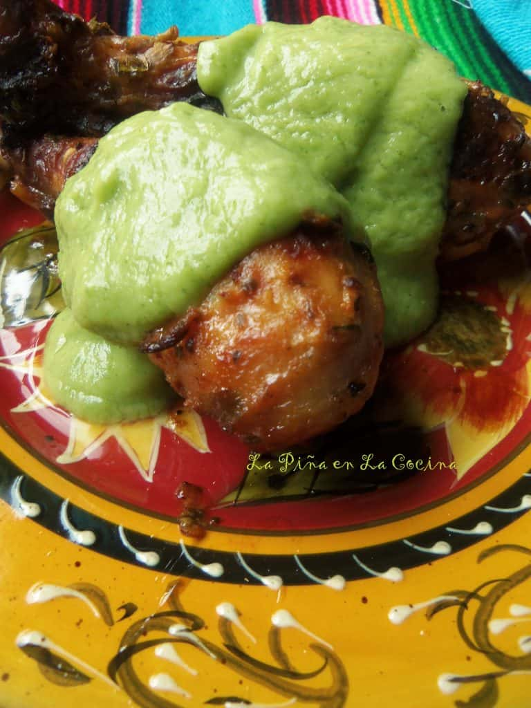 Grilled Lemon and Herb Chicken with Guacamole Sauce