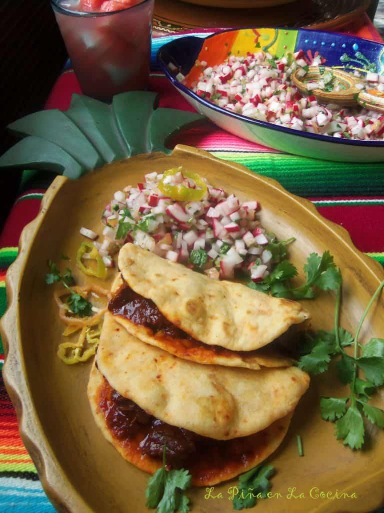 Carne con Chile Tacos de Harina