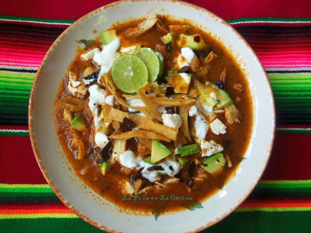 Sopa Azteca-Sopa de Tortilla(Tortilla Soup)