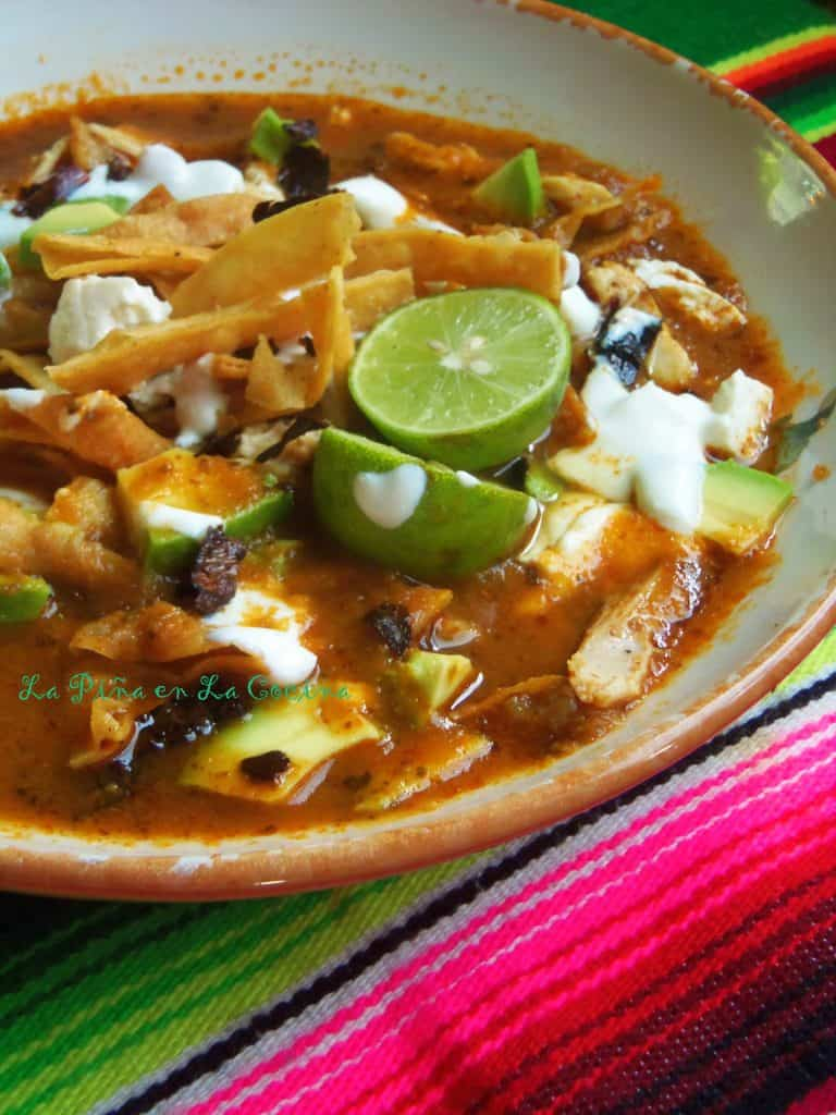 Chicken And Tortilla Soup (Sopa Azteca) Recipe — Dishmaps