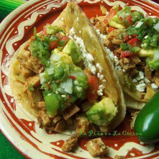 Spicy Lime Pepper Chicken~ Tacos Dorados de Pollo