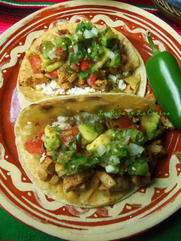 Spicy Lime Pepper Chicken Tacos