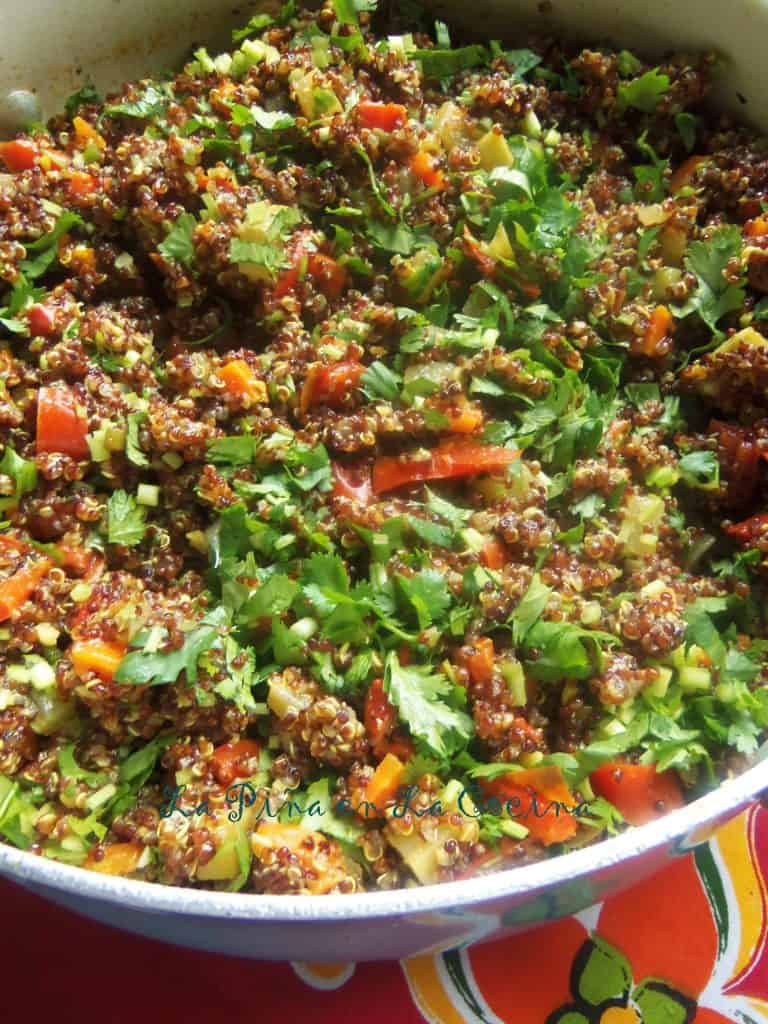 Red Quinoa and Black Beans