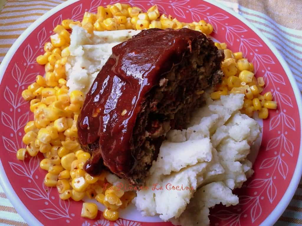 Stuffed Meatloaf with Mexican Flavors