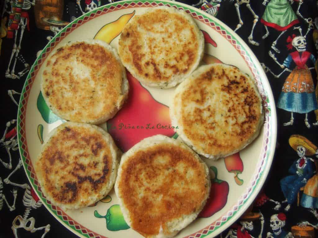 Cheese Arepas-Prepared with Fresh Hominy9Maiz Blanco)