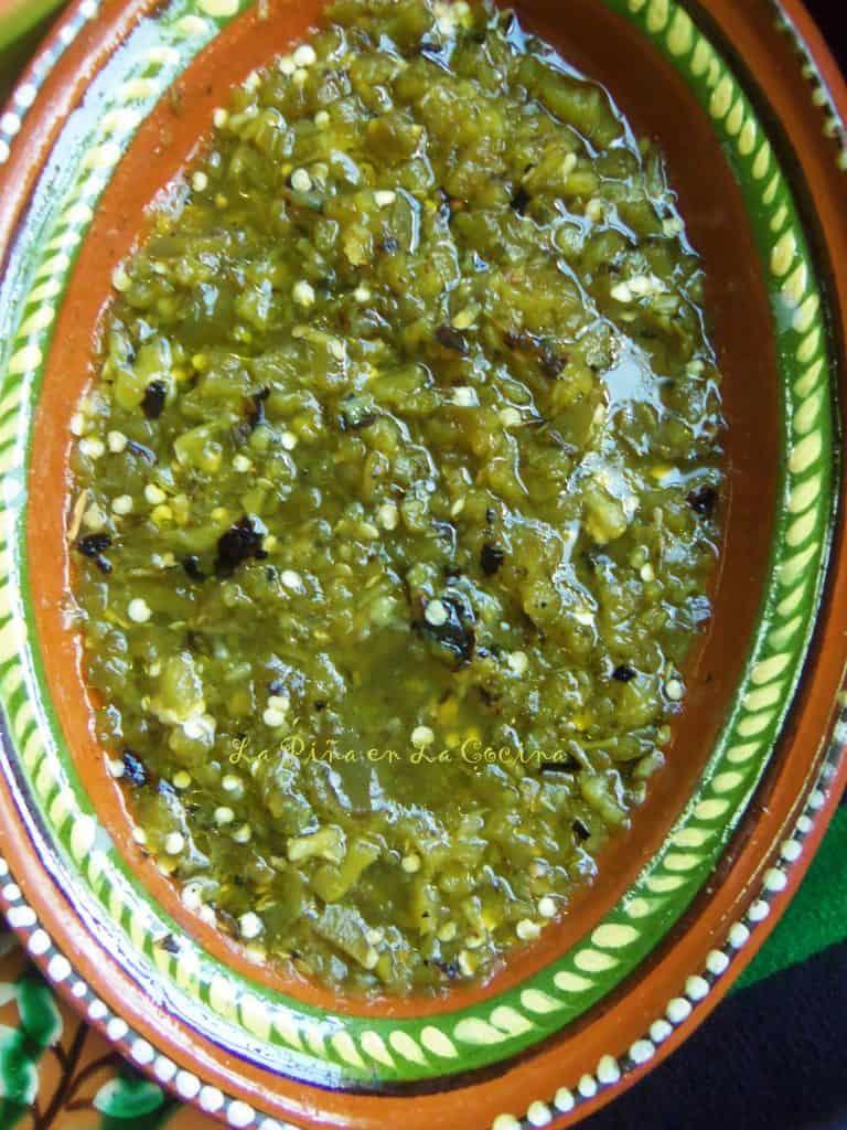 Salsa de Jalapeño Tatemada-Charred Jalapeño Salsa