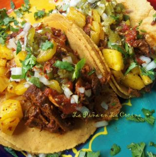 Al Pastor Tacos close up