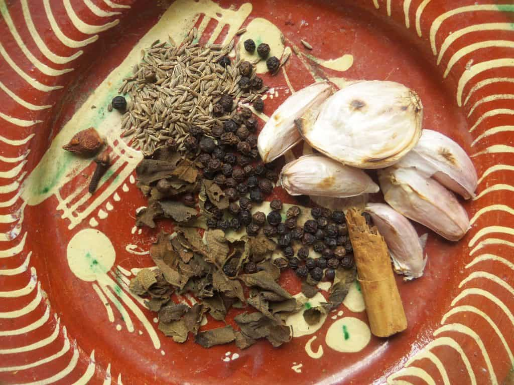 Preparing Recado-Herbs and Spices