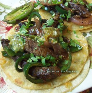 Ribeye Steak Tacos~Tomatillo Habanero Hot Sauce/Salsa