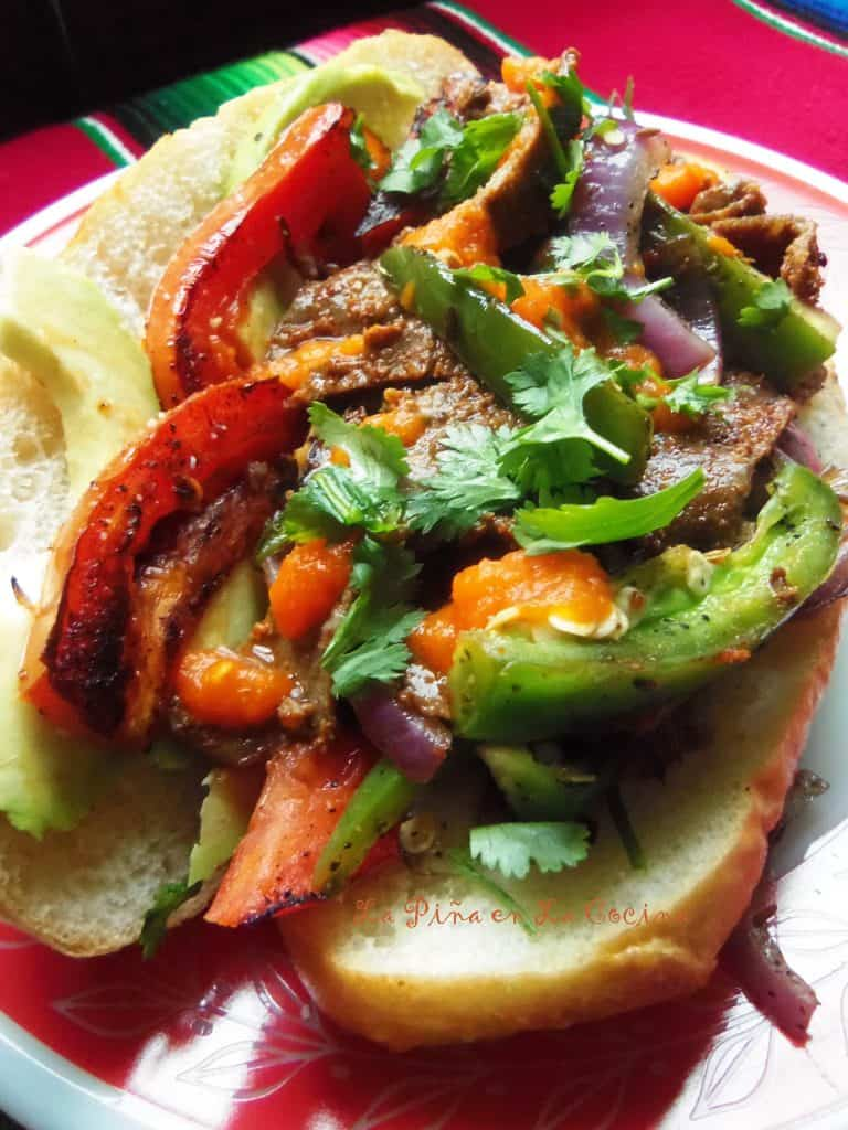 Milanesa Steak Sandwiches with Habanero Salsa