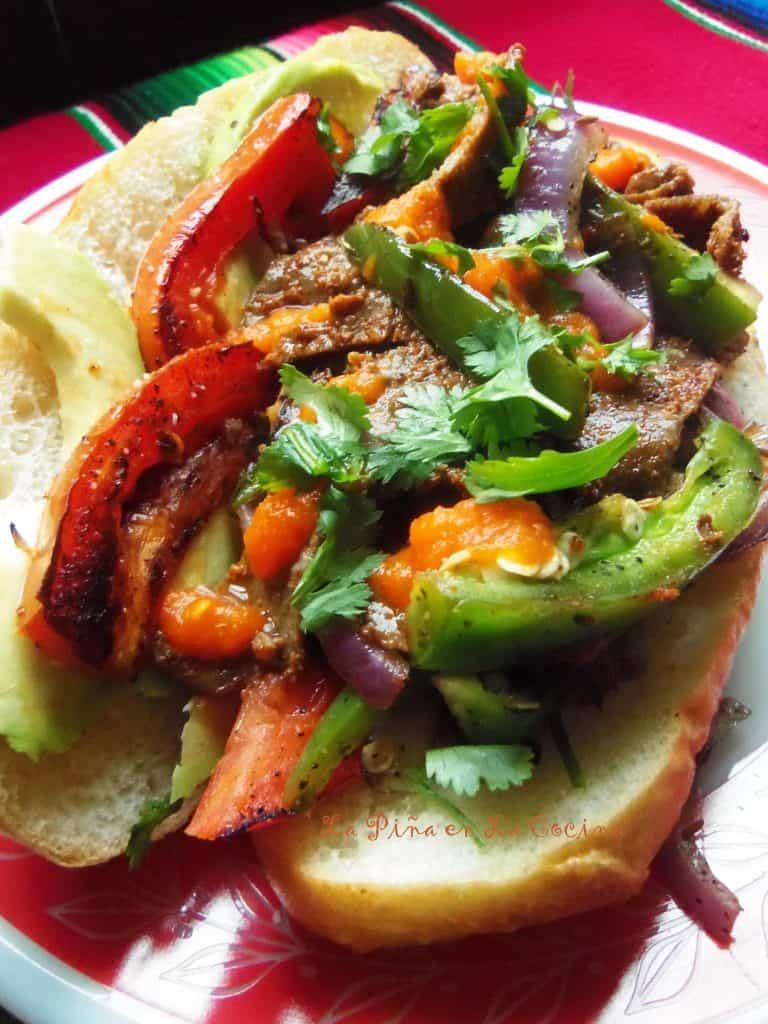 Milanesa Steak Sandwiches with Habanero Salsa