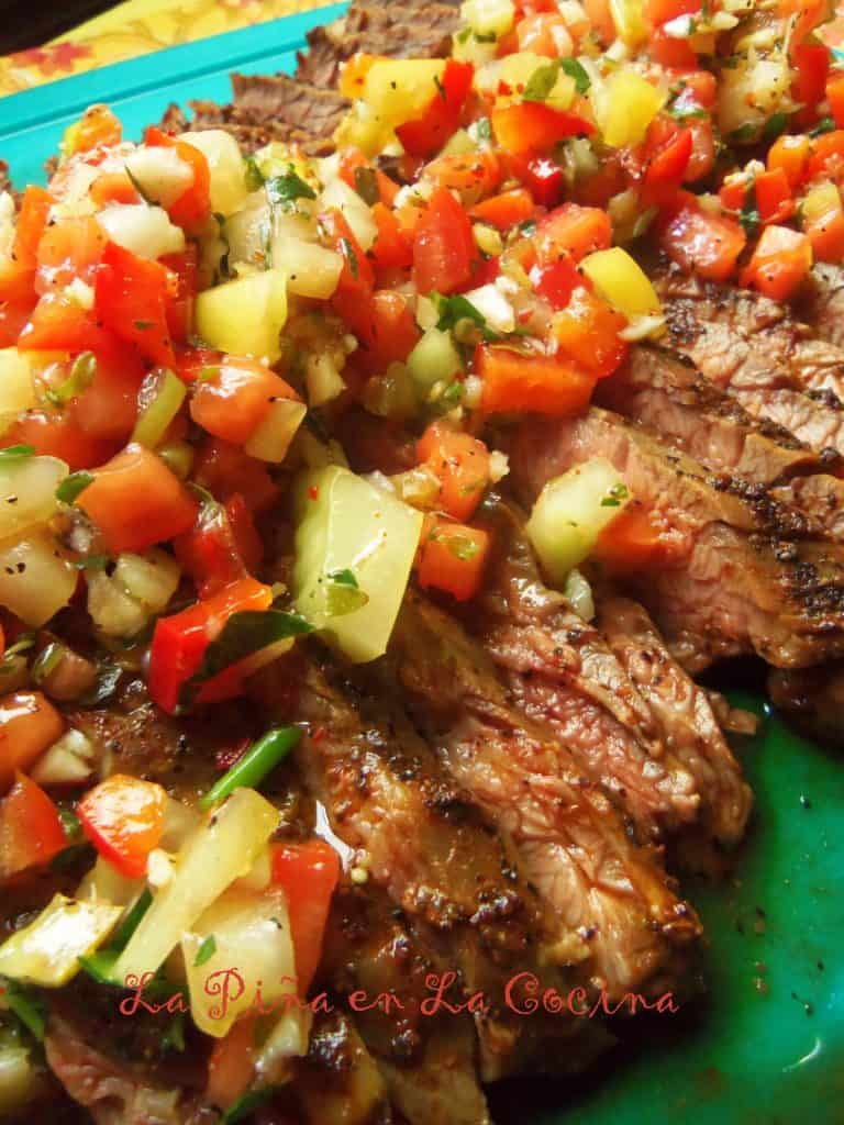 Grilled Flank Steak in Recado Rojo