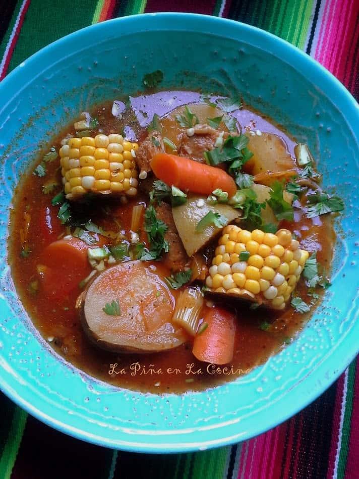 Pork Vegetable Soup-Caldo de Puerco