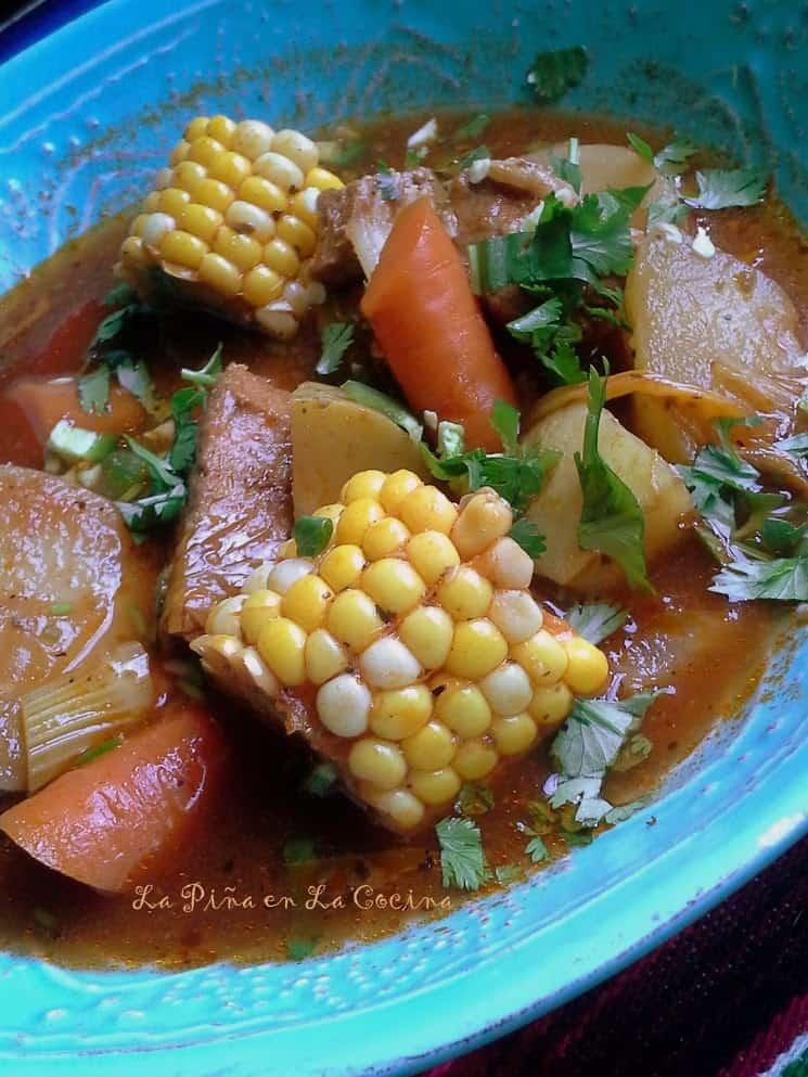 Caldo de Puerco-Pork and Vegetable Soup