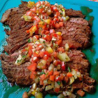 Grilled Flank Steak~Recado Recipes