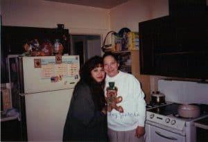 Mom and Me....La Piña en La Cocina