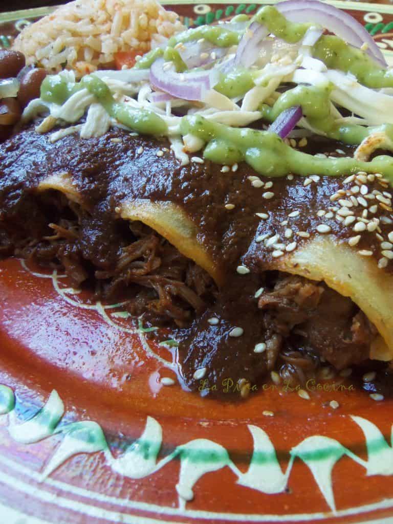 Oaxacan-Style Enchiladas-Enmoladas