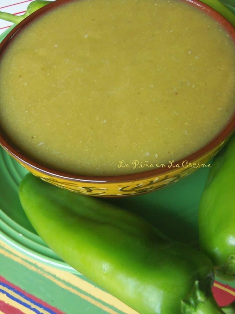 Green Chile Sauce #greenchile