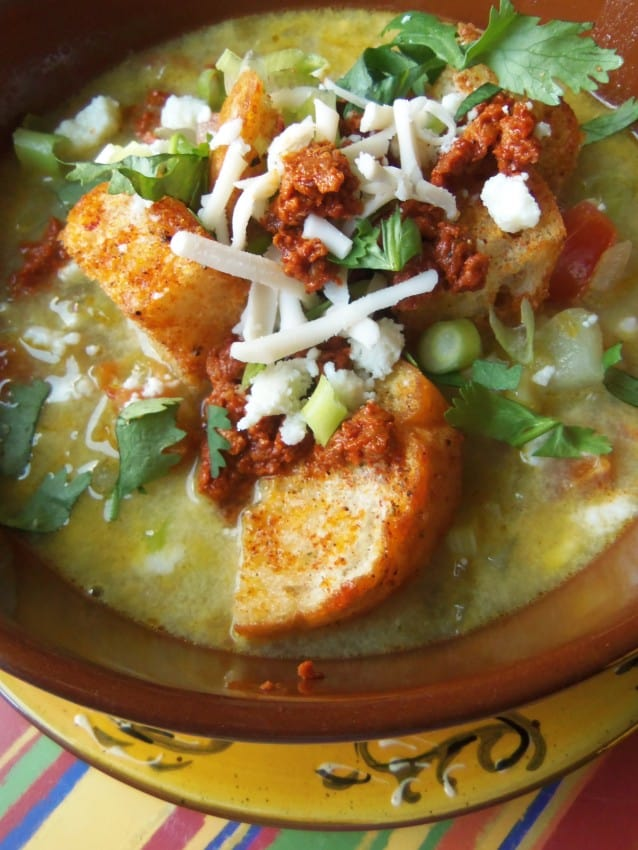 Green Chile and Cheese Soup #greenchile