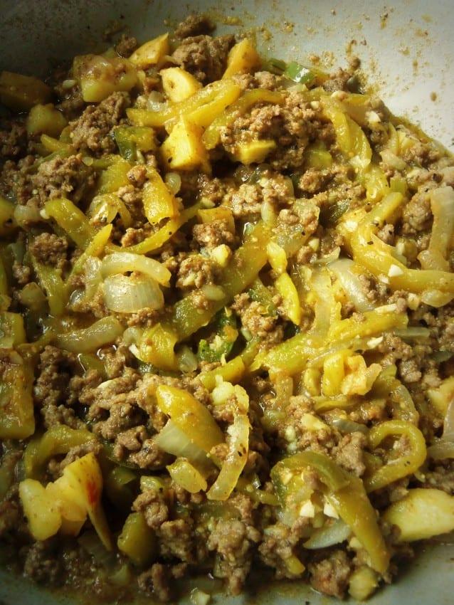 Chile Verde Beef Picadillo #greenchile