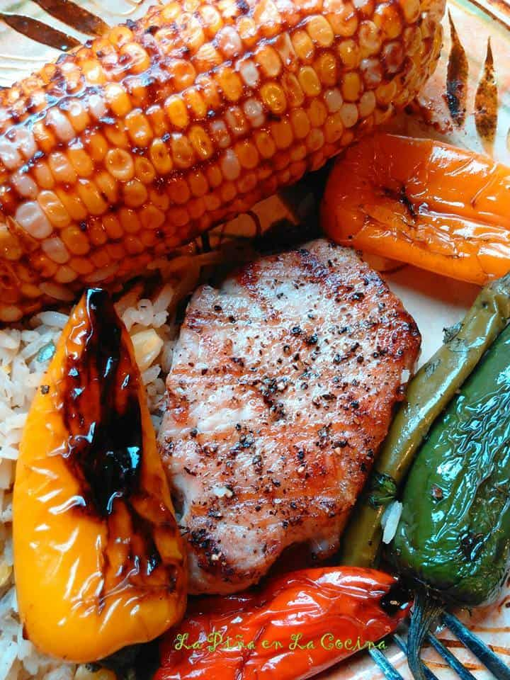 Brine Marinated Grilled Pork Chops