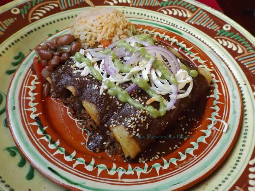 Oaxacan-Style Enchiladas~ Enmoladas