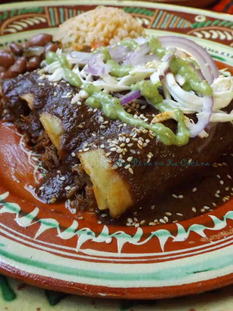 Oaxacan-Style Enchiladas~Enmoladas