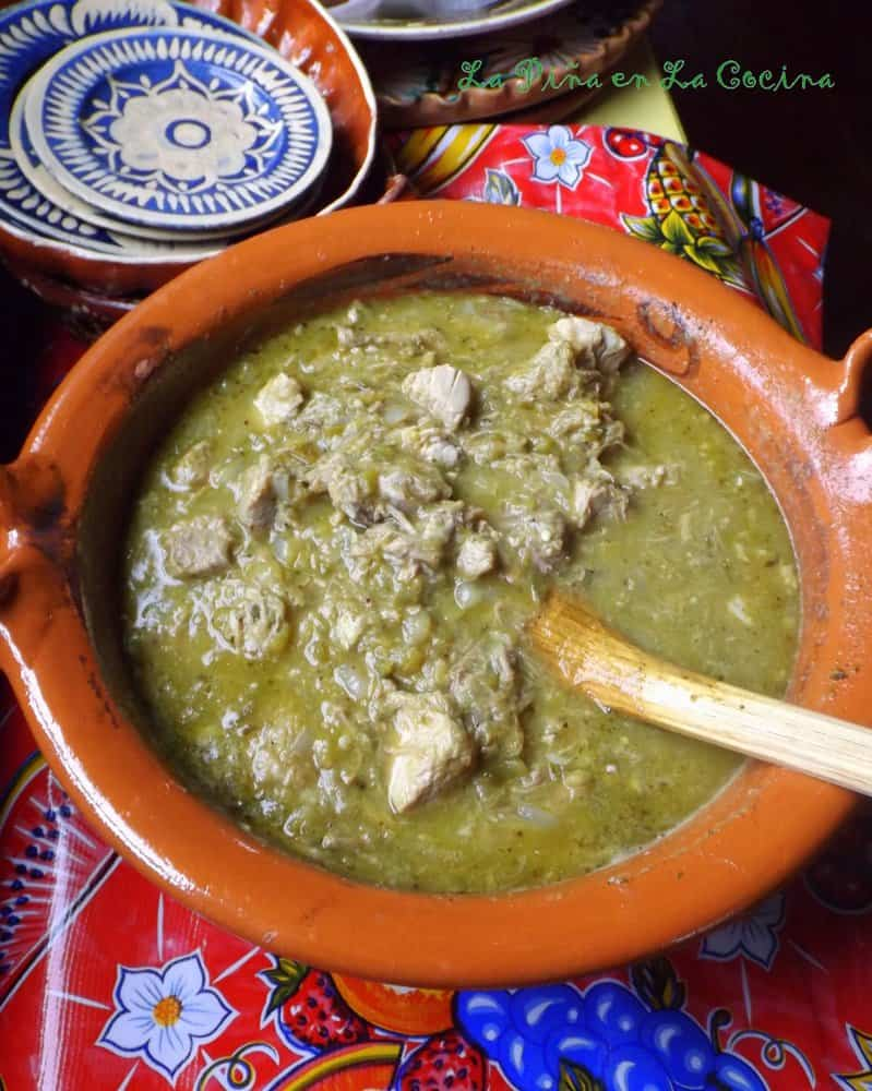 Pork Chile Verde With and Without Potatoes