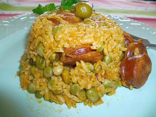 Arroz con Gandules y Chorizo-Norma Torres, Platanoes, Mangoes and Me Blog Site.