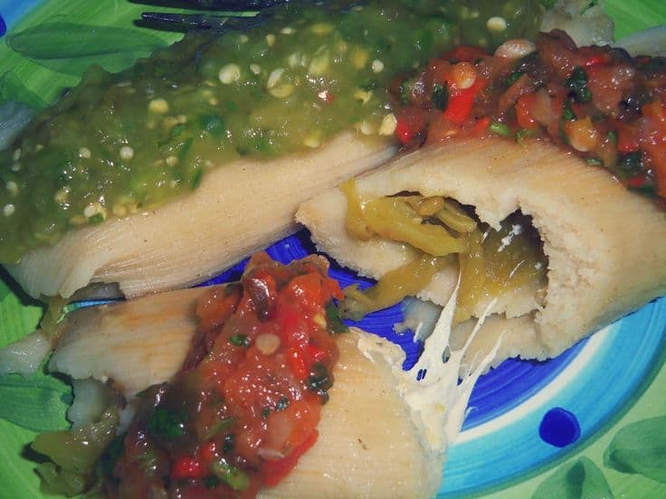 Green Chile and Cheese Tamales #greenchile