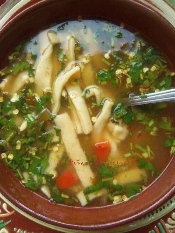 Cilantro Lime Soup-Homemade Noodles