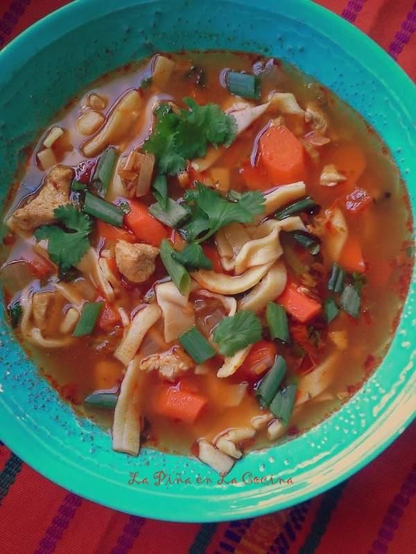 Cilantro Lime Chicken Noodle Soup-Homemade Noodles