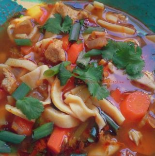 Cilantro Lime Chicken Noodle Soup~Learning to Prepare Homemade Noodles