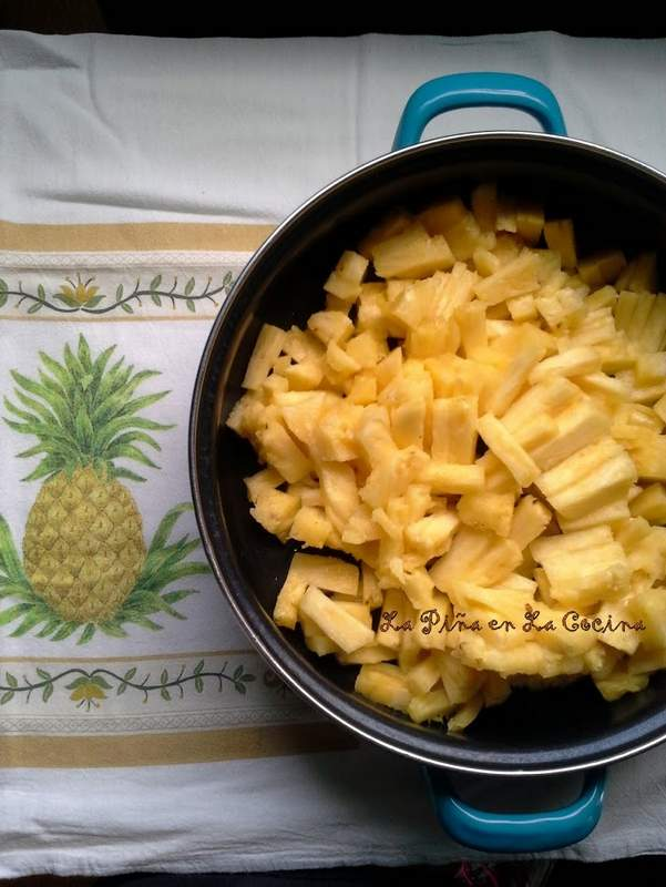 Pineapple Filling for Empanadas before cooking