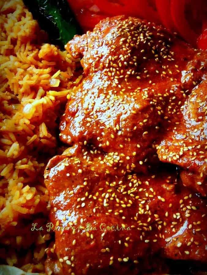 Mole de Pollo(Chicken in a Mole (mo-leh) Sauce)