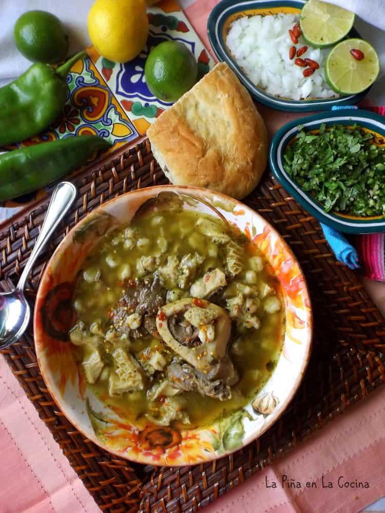 Menudo Verde~Roasted Green Chile Menudo - La Piña en la Cocina