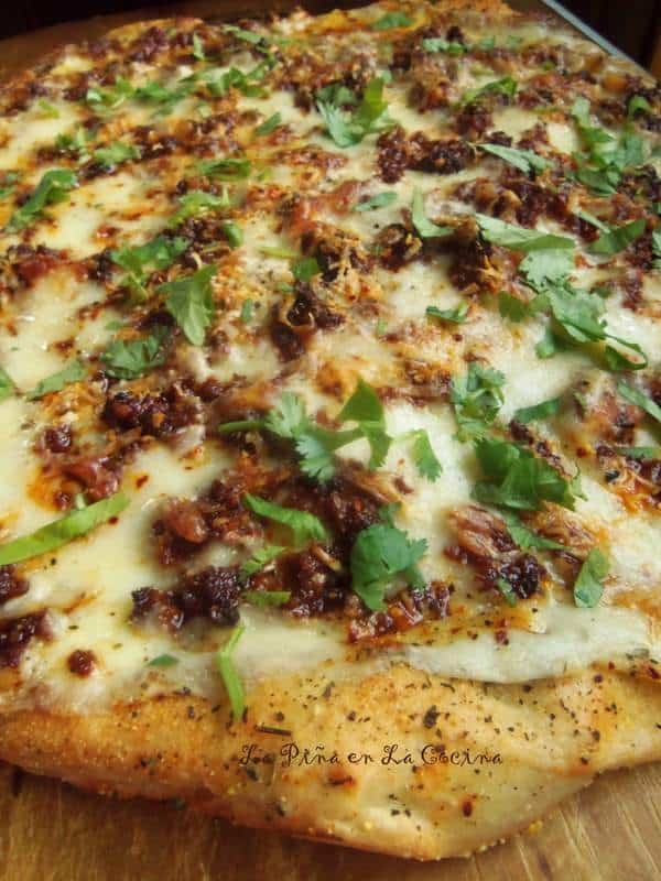 Mexican Chorizo White Pizza with Beer Dough Crust