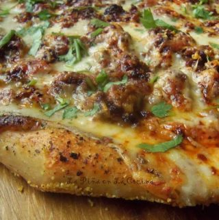 Mexican Chorizo White Pizza~Beer Dough Crust