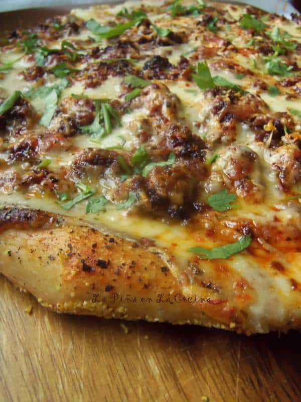 Mexican Chorizo White Pizza with Beear Dough Crust