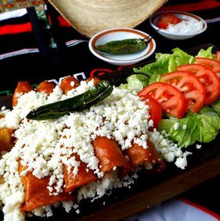 Easy Queso Fresco Enchiladas
