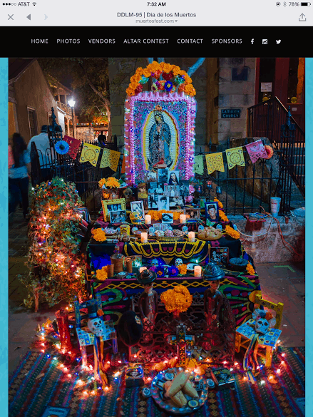 Laura and Ramon's Alter at La Villita in San Antonio