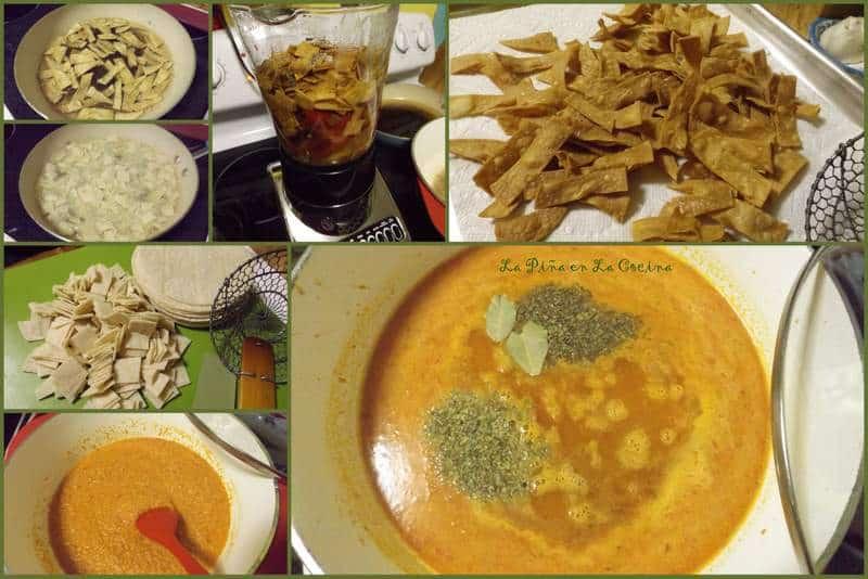 Roasted Tomato Tortilla Soup with Avocado Crema
