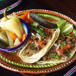 Tacos de Lengua~Beef Tongue Tacos
