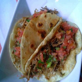 Shredded Pork Carnitas~Chanclas Poblanas and Tacos!