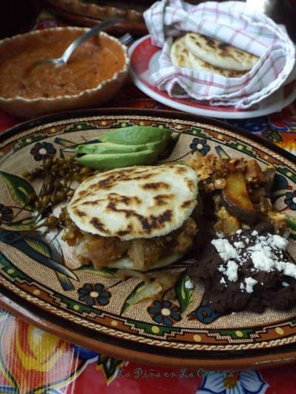 Gorditas de Harina-Spicy Chicharrones