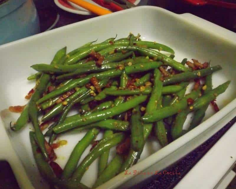 Green Beans with Bacon, Lime and Chile~Dinner For Two
