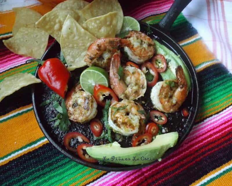 Camarones a la Plancha~Jalapeño Garlic Mojo Shrimp