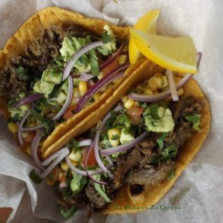 Green Chile Duck Tacos~Tacos de Pato