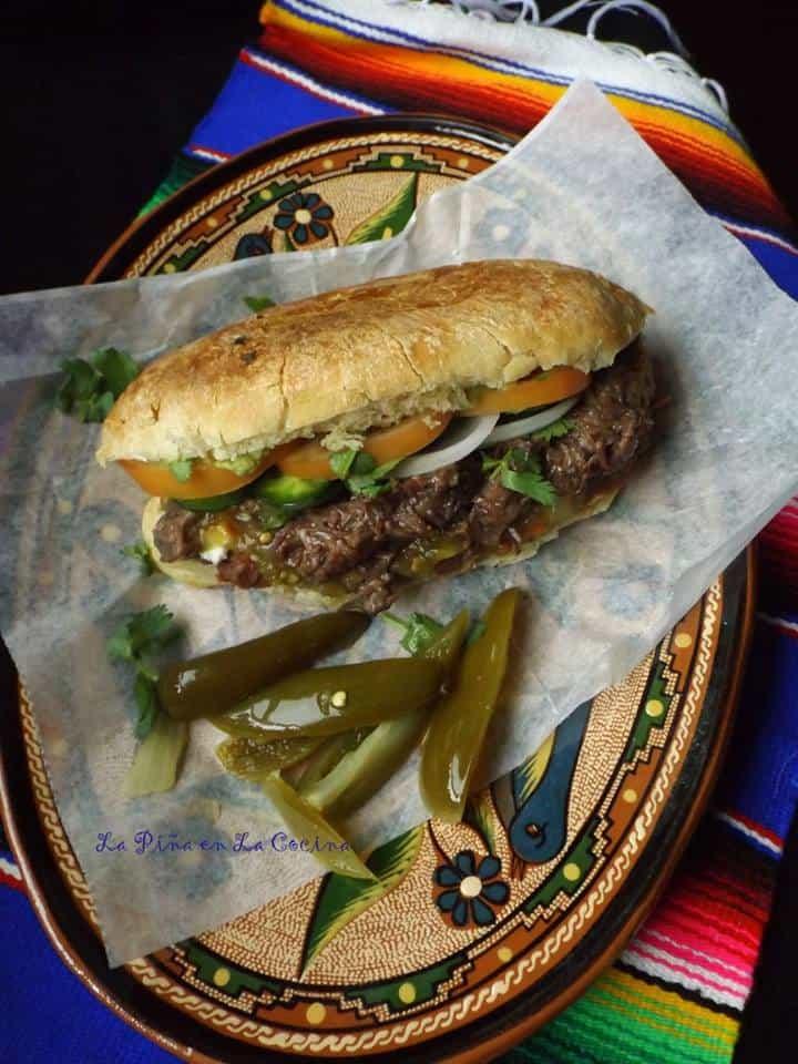 Torta de Barbacoa-Beef Mexican-Style Sandwiches